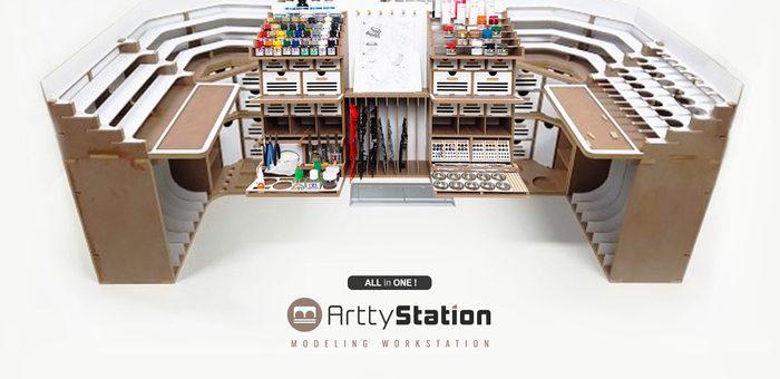プラモデル製作に最高の環境を提供する「Artty Station」発売