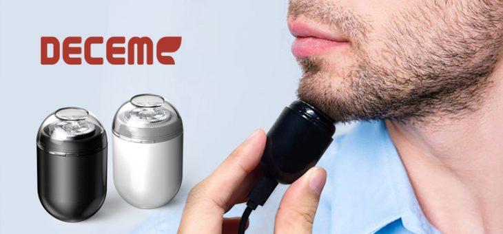 超小型、軽量の電動シェーバー「DECEM USBミニシェーバー」新発売 ~わずか40g、徹底的なミニマルデザイン、回転刃でパワフル高速動作~