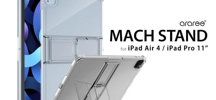 araree、折り畳みスタンド付きiPad Air/iPad Pro11専用クリアケース「Mach Stand Case」発売