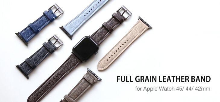 SLG Design、上質なフルグレインレザーを使用したApple Watch用バンド発売
